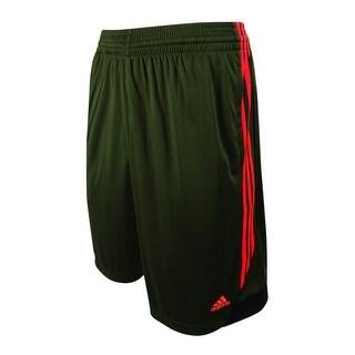"""Adidas Men's 11"""" 3G Speed 2.0 Basketball Shorts (M, Green/Orange) - Green/Orange - M"""