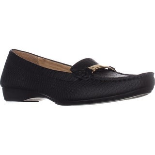 naturalizer Gadget Loafer Flats, Black Snake