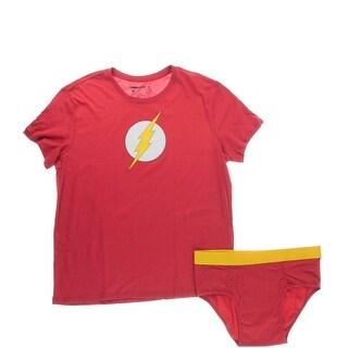 Underoos Mens The Flash Cotton Underwear Set Two-Piece Pajamas - XL