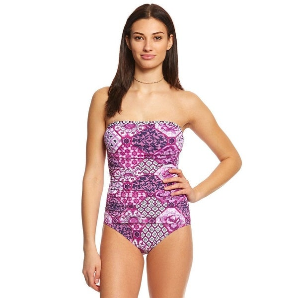 0c87b7d0d1 Shop Tommy Bahama WMNS One-Piece Orchid Wire-Free Bandeau, SZ 6 - Free  Shipping Today - Overstock - 27068719