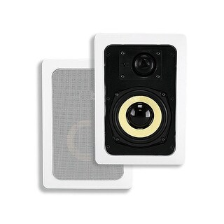 Monoprice 5-1/4-inch Kevlar 2-Way In-Wall Speakers (Pair) - 50W Nominal, 100W Max