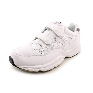 Propet Stability Men 4E Round Toe Leather White Walking Shoe