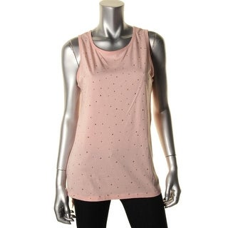 Rebel Sky Womens Tank Top Modal Studded - S
