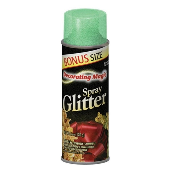Decorating Magic Green Glitter Christmas Spray - 6 Ounces