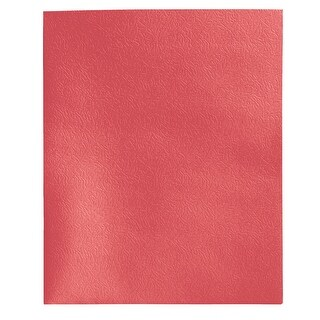 School Smart Extra Large 2-Pocket Folder, Red, Pack of 25