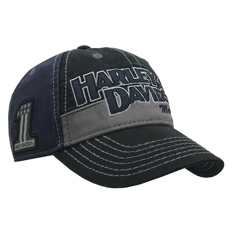 48c181284475b6 Harley-Davidson Men's Block H-D Name Baseball Cap BC10389