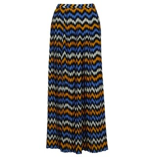 Michael Kors Women's Multicolor Pleated Maxi Skirt