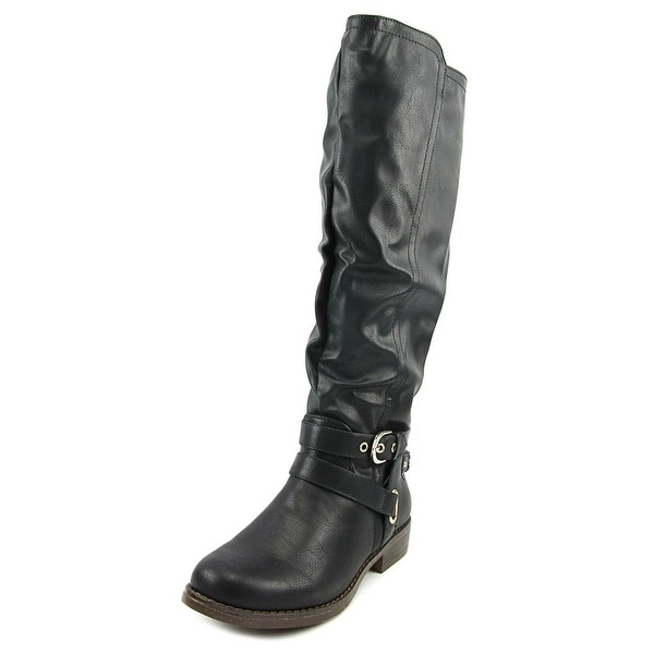 XOXO Martin Wide Calf Women Round Toe Synthetic Knee High Boot