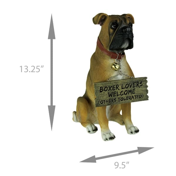 Boxer Dog With Double Sided Sign