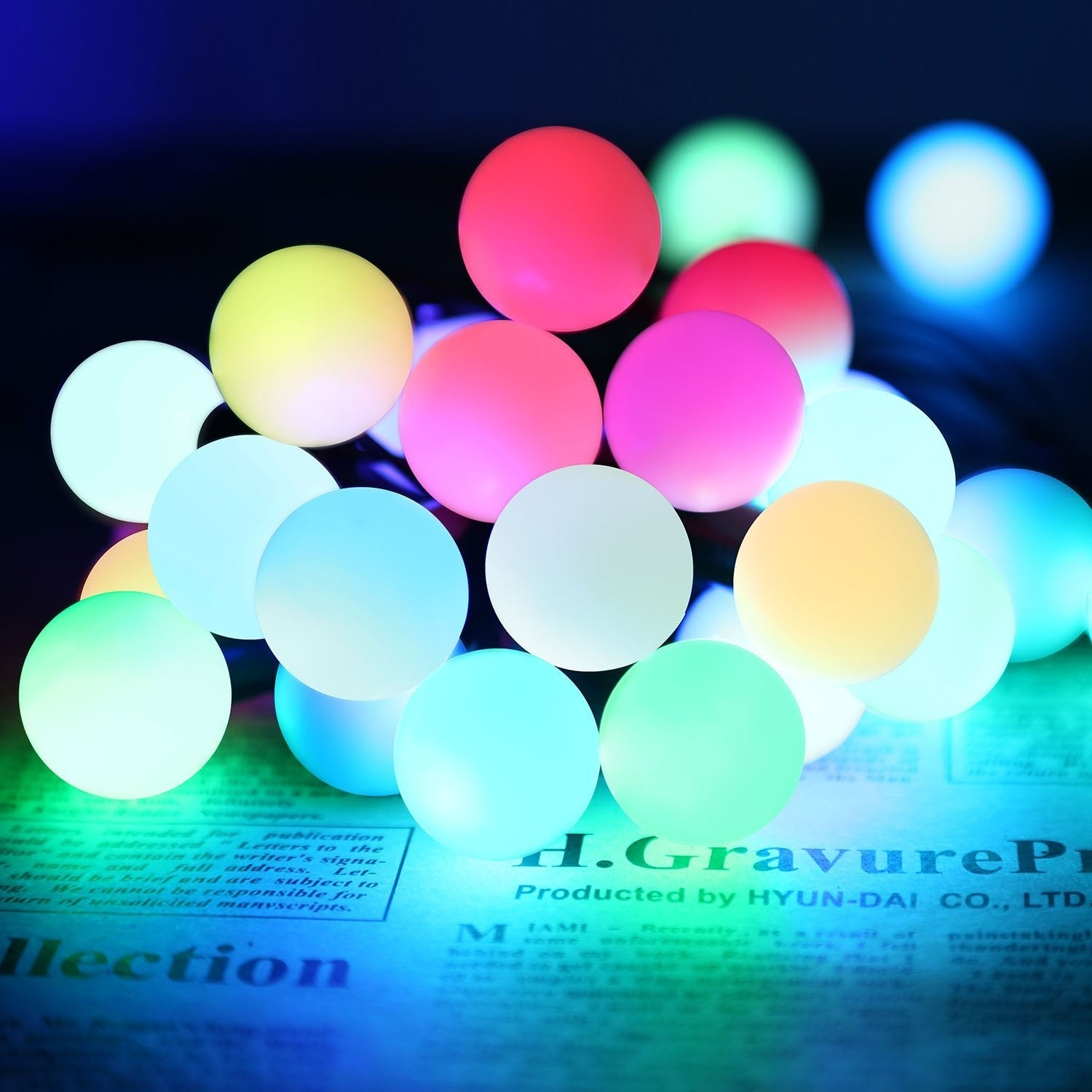 Picture of: Automatic Color Changing Rgb Ball Led String Lights 20ft 50 Leds Globe Ball Fairy Christmas Lights Overstock 13743759