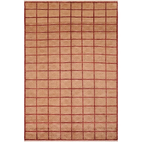 "Boho Chic Ziegler Bess Hand Knotted Area Rug -7'10"" x 9'8"" - 7 ft. 10 in. X 9 ft. 8 in."