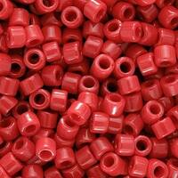 Miyuki Delica Seed Beads, 10/0 Size, 8 Grams, Opaque Red DBM0723