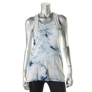 Pam & Gela Womens Petites Tie-Dye Racerback Tank Top