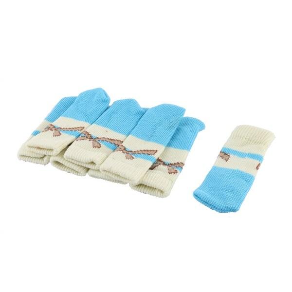 Household Bow Tie Pattern Non-skid Chair Table Desk Leg Feet Sock Sleeve Cover 8pcs