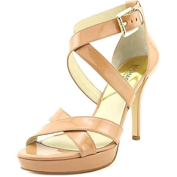 Michael Michael Kors Evie Platform Open Toe Patent Leather Sandals