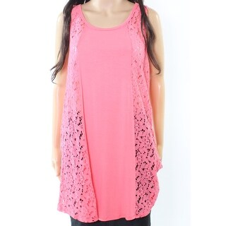 Moa Moa NEW Pink Coral Women's Size XL Cover-Up Sheer Lace Swimwear