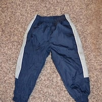 Navy Blue with Silver Strips Athletic Pants Toddlers 2T