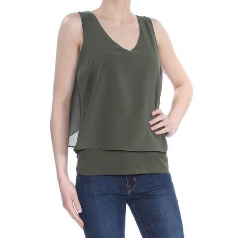 BAR III Womens Green Layered Look Tank Top Size: XS