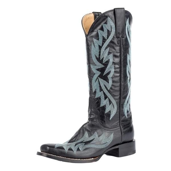 Stetson Western Boots Womens Tori Narrow Black