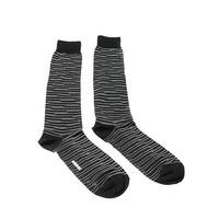 Missoni GM00CMU4949 0001 Black/White Knee Length Socks
