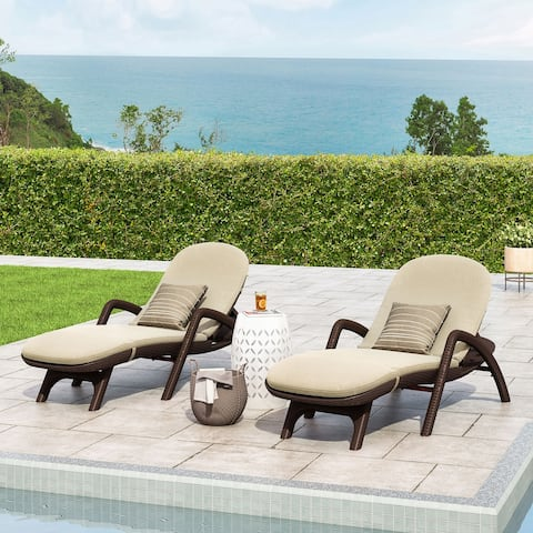 Waverly Faux Wicker Chaise Lounges (Set of 2) by Christopher Knight Home