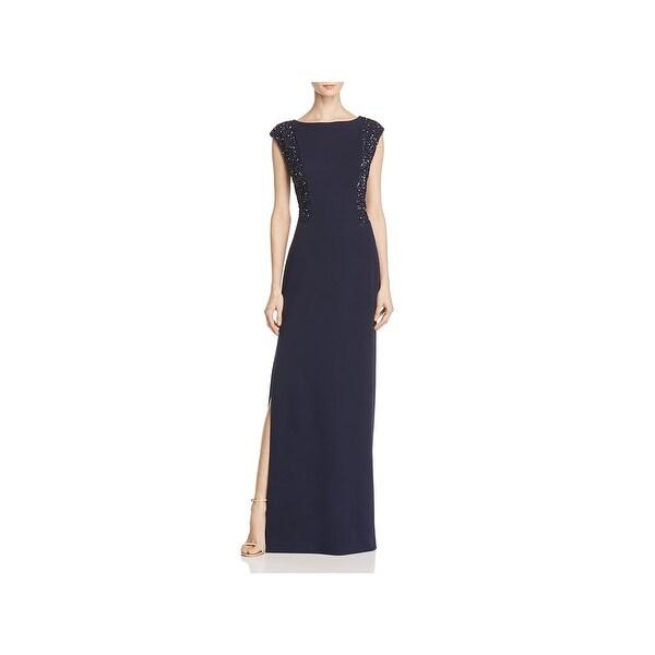 Aidan Mattox Womens Evening Dress Matte Jersey Sequined