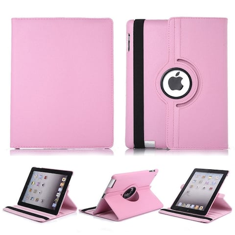 Apple iPad 2/3/4 Leather Case Rotates 360 Degrees Magnetic Cover Stand