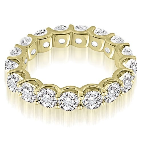 3.75 cttw. 14K Yellow Gold Classic U-Prong Round Diamond Eternity Band Ring