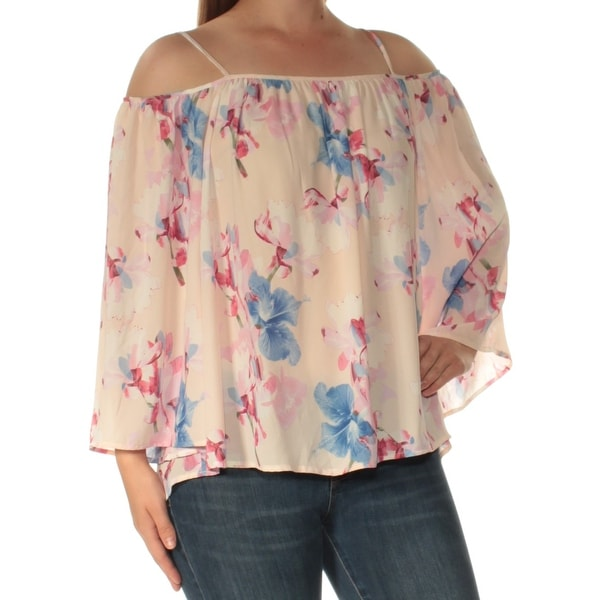 e044a1bbad4 Shop VINCE CAMUTO $89 Womens New 1496 Pink Floral Cold Shoulder Bell Sleeve  Top M B+B - Free Shipping On Orders Over $45 - Overstock - 22421041