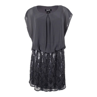 S.L. Fashions Women's Plus-Size Sequined Blouson Chiffon Dress (Option: 20w)