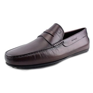 Tod's Laccetto City Gommino Men EW Moc Toe Leather Brown Loafer