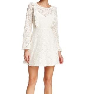 Harlowe & Graham NEW White Ivory Women's Size Large L Sheath Lace Dress