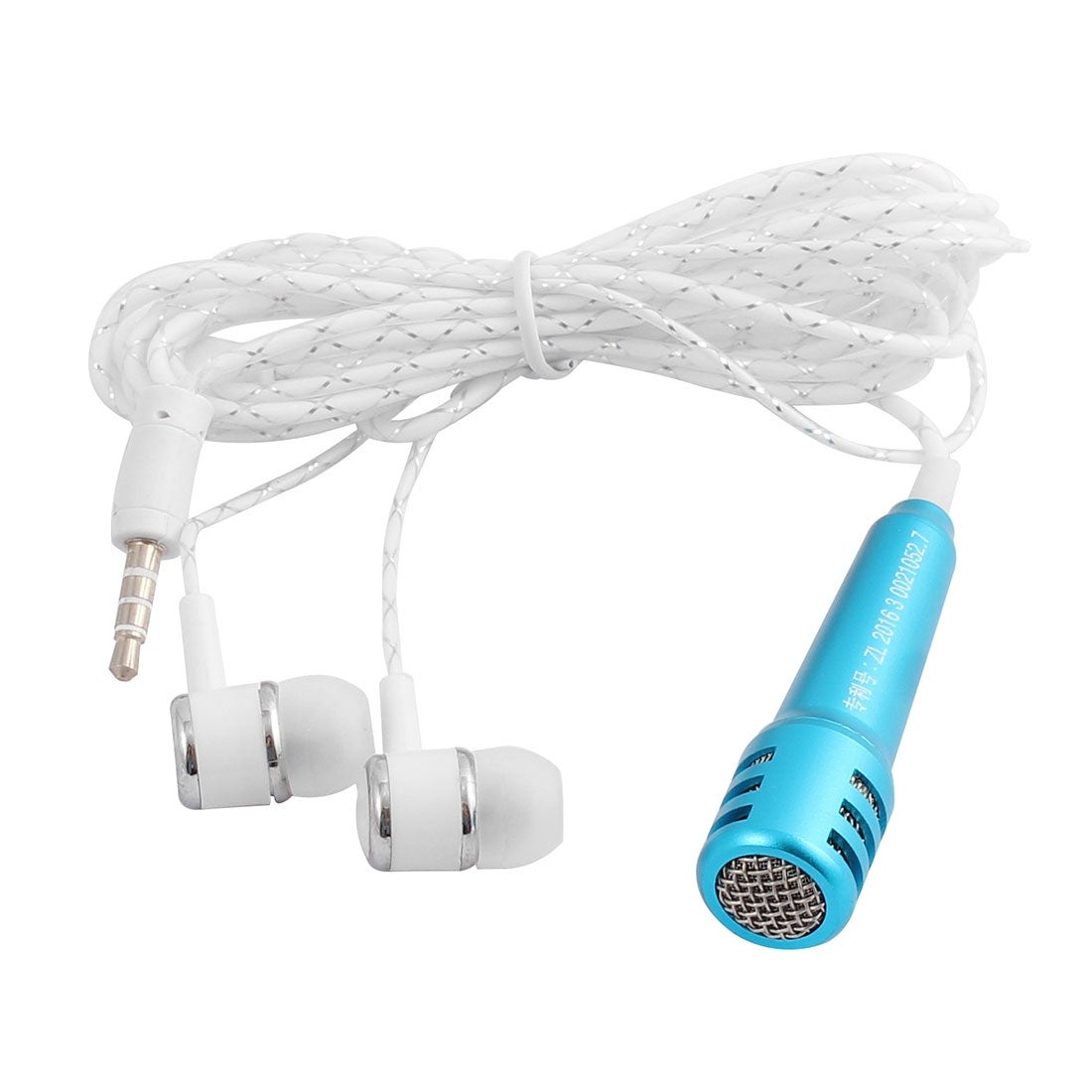 Shop Mini Earbuds Microphone Headset Earphone Navy Blue For Cellphone Smart Phone Overstock 17604344