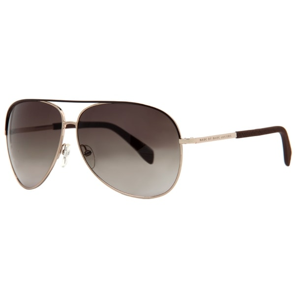 Marc by Marc Jacobs MMJ 484/S LNU/HA Gold Brown Gradient Aviator Sunglasses - Brown Gold - 63mm-11mm-135mm