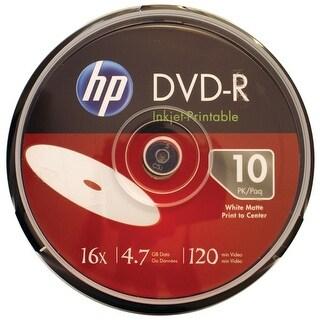 Hp Dm16Wjh010Cb 4.7Gb 16X Printable Dvd-Rs, 10-Ct Cake Box Spindle