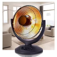 Costway Electric Parabolic Oscillating Infrared Space Heater W/Timer Home office - Black