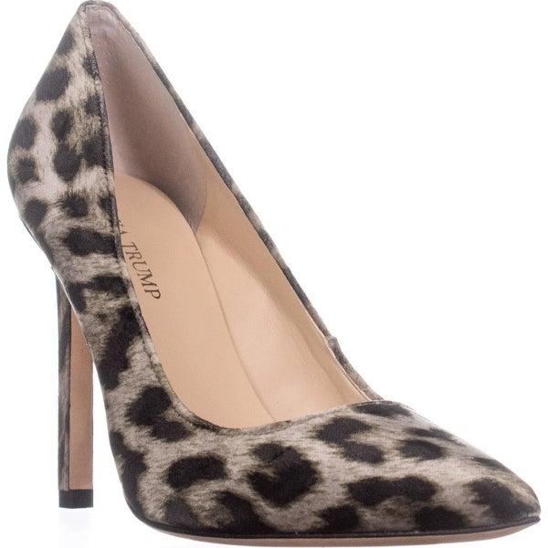 Ivanka Trump Carra3 Pointed-Toe Classic Pump Heels, Medium Natural
