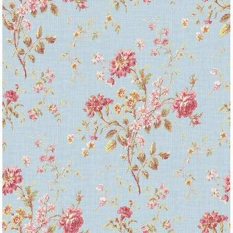 Seabrook Designs Flower Bunch Unpasted Wallpaper - 20.5 in. W x 33 ft. L