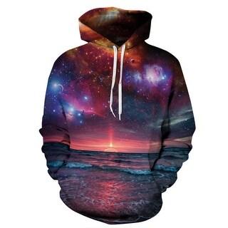 Space Galaxy 3D Sweatshirt Men/Women Hoodies With Hat Print Stars Nebula Spring Loose Thin Hooded Hoody Tops