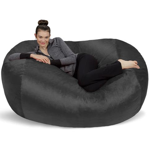 6-foot Bean Bag Lounger Large Memory Foam Bag Chair Lounger