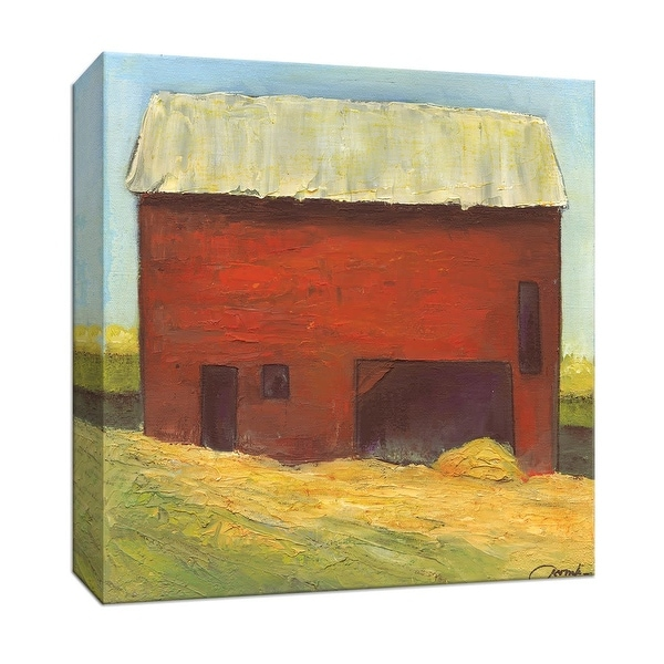 """PTM Images 9-146892 PTM Canvas Collection 12"""" x 12"""" - """"Barn III"""" Giclee Country Buildings Art Print on Canvas"""