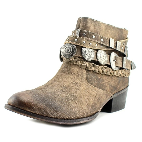 Naughty Monkey Anchorage Women Round Toe Leather Brown Ankle Boot