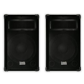 """Acoustic Audio DR12 Passive 12"""" PA Speaker Pair 2-Way DJ Karaoke Band Speakers"""