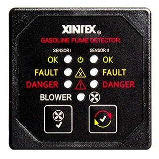Xintex Gasoline Fume Detector & Blower Control w/2 Plastic Sensors - Black Bezel Display