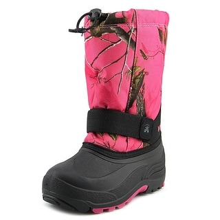 Kamik Rocket 2 Youth Round Toe Canvas Pink Snow Boot