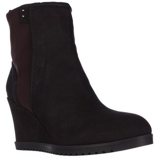 Taryn Rose Beula Wedge Ankle Boots - Dark Brown