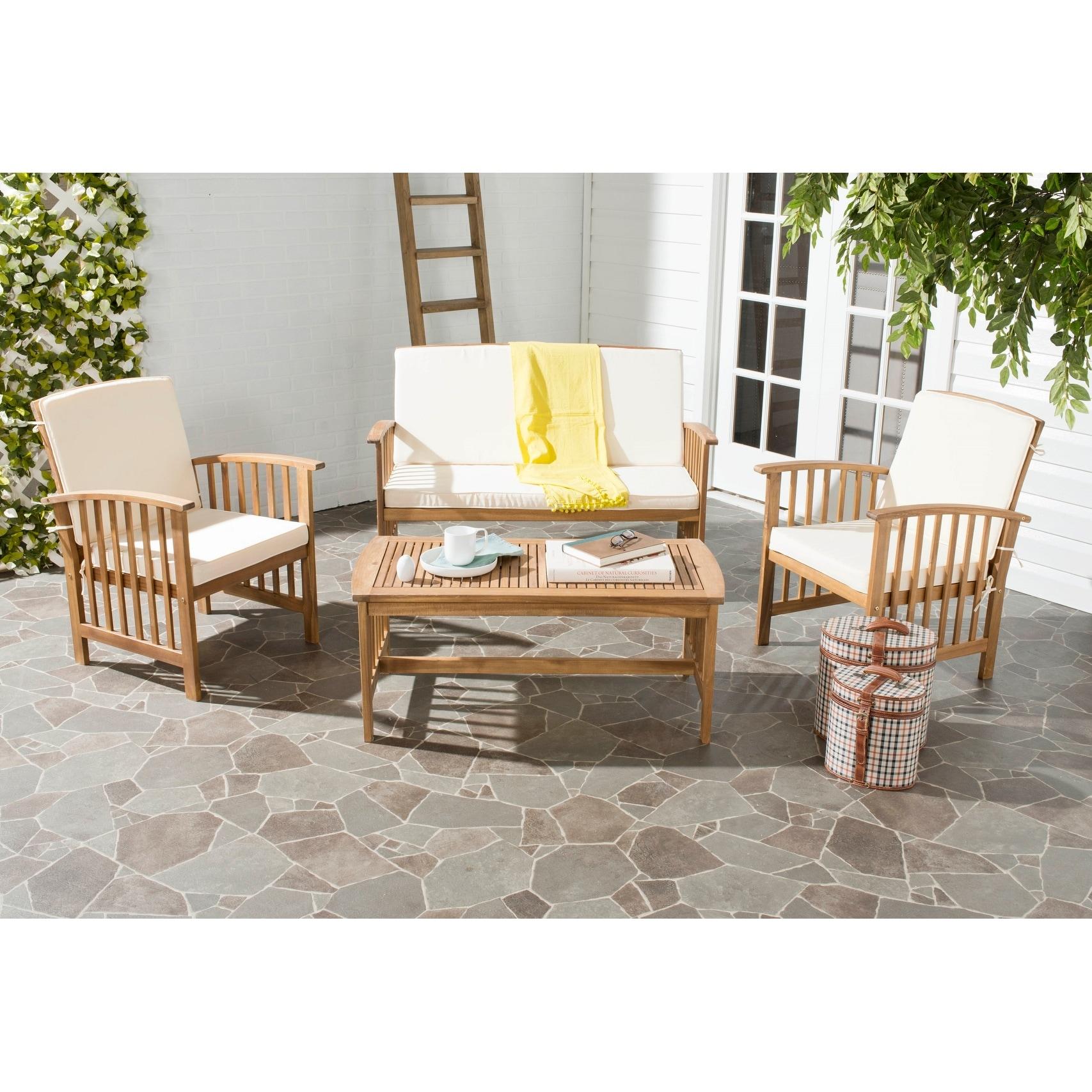 Safavieh Outdoor Living Rocklin 4-piece Outdoor Set | eBay on Safavieh Alda 4Pc Outdoor Set id=60391