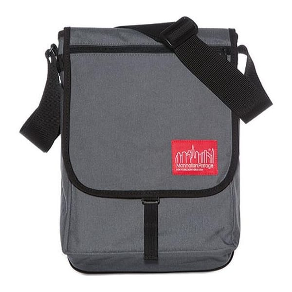 15 in, Grey 15 in Manhattan Portage Convertible Laptop Bag