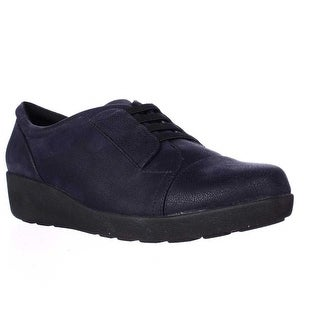 Easy Spirit Kandance Wedge Fashion Sneakers - Navy