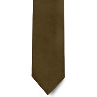 Men's 100% Microfiber Brown Tie